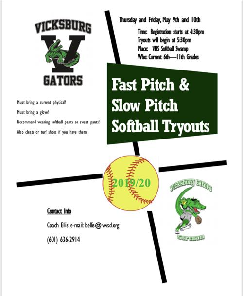 Fast Pitch / Slow Pitch Tryouts